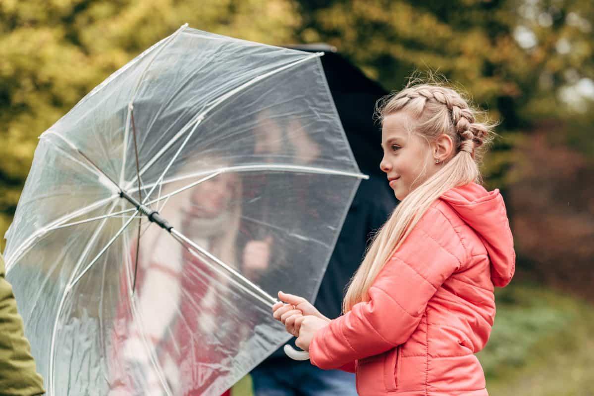 Ett genomskinligt paraply