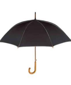 svart och grått paraplyet