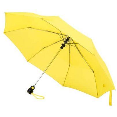 automatiskt gult paraply
