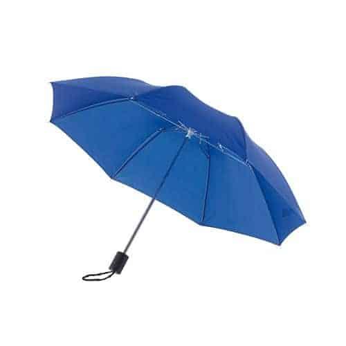 blåa mini paraplyet