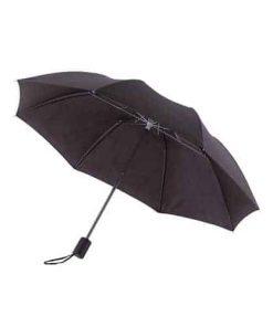 svart mini paraply