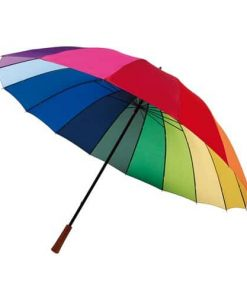 Flerfärgade paraplyet
