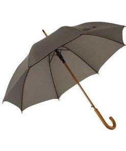 grått trä paraply