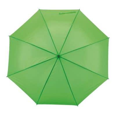 Automatiska ljusgrönt paraplyet