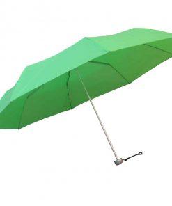 ljusgrönt hopfällbart paraply