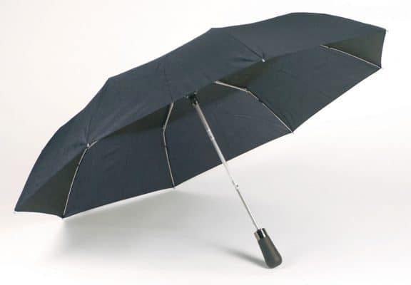 automatisk blåa paraplyet
