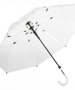 genomskinligt paraply vitt