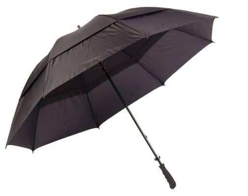 svart golfparaply