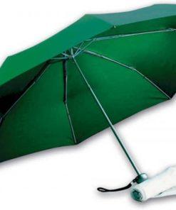 gröna hopfällbara paraplyet