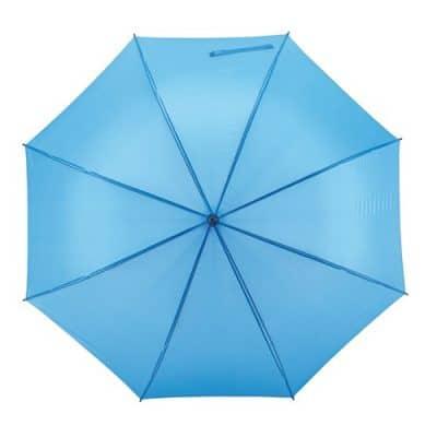 automatiska ljusblåa paraplyet