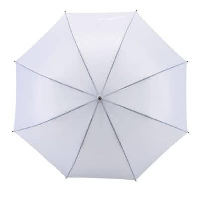 automatiska vitt paraplyet
