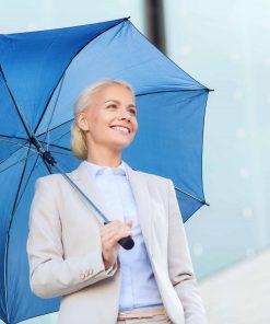 Blått paraplyet