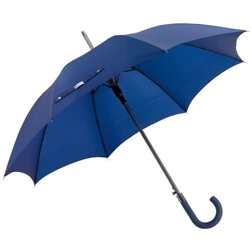 stort blått paraply
