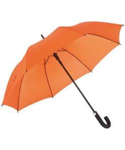stort orangea paraply