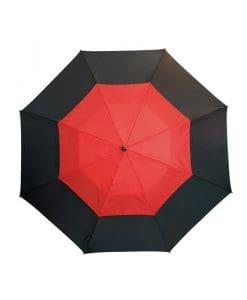 stort röd paraply