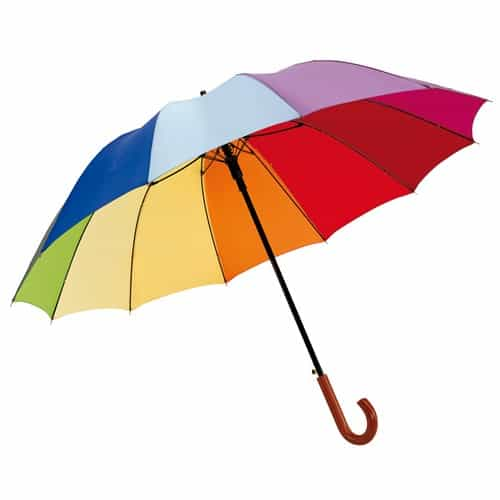 stort regnbågsparaply
