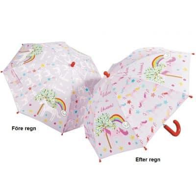 Barnparaply med enhörning