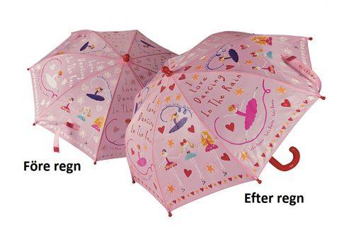 Färgskiftande barnparaply
