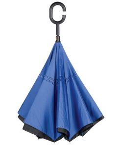 Paraply med omvänd stängning