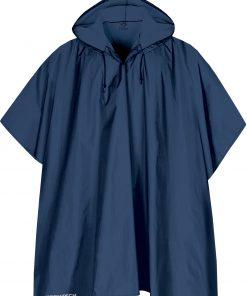 blå regnponcho