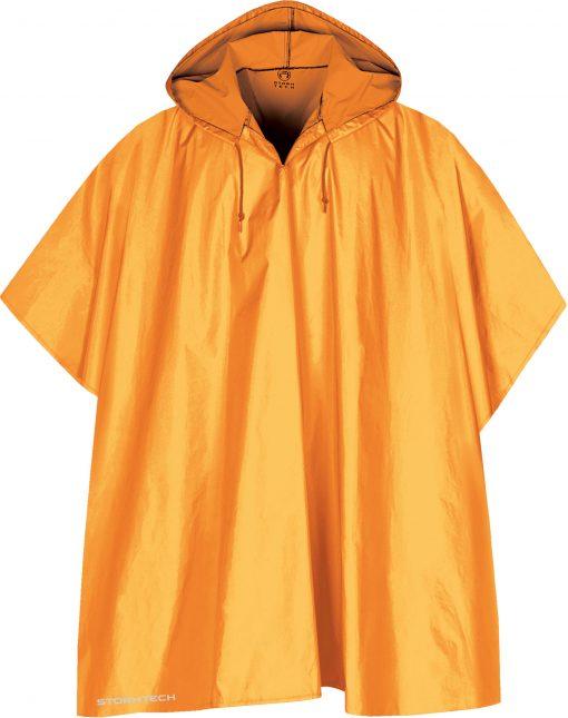 guldfärgad regnponcho