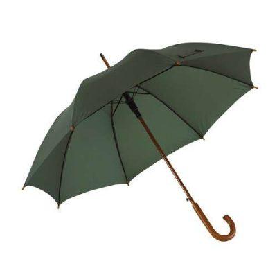 mörkgrönt paraply