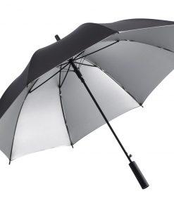 svarta och silver paraply