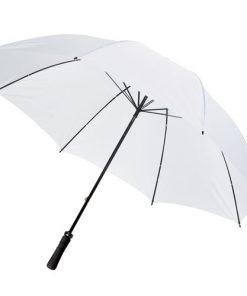 stort vitt golfparaply