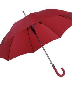 mörkrött pinnparaply