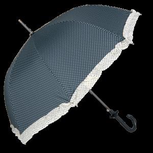 Paraply med prickar