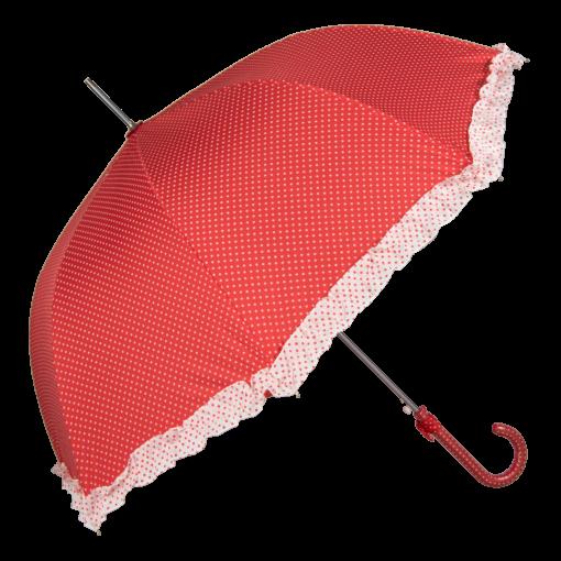 Rött paraply prickar