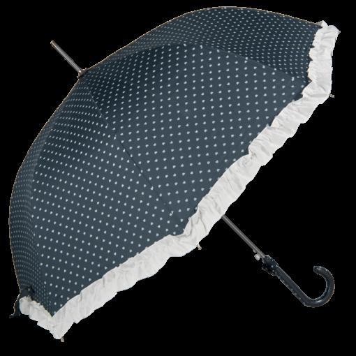 Retro paraplyet med hjärtan