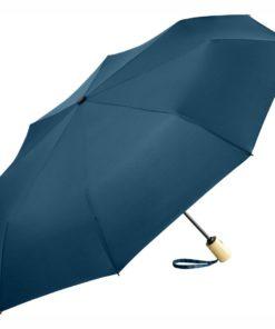 mörkblåa eko-paraplyet