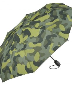 grönt camouflage miniparaply