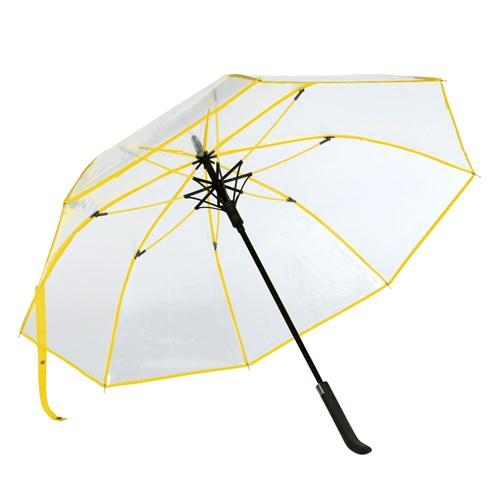Gula genomskinligt paraply