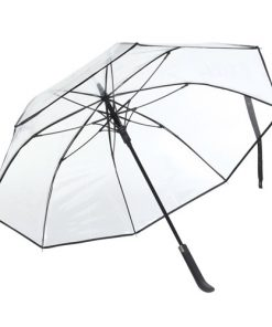 genomskinligt svart paraply