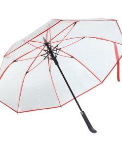 rött transparent paraply